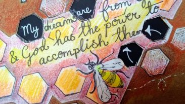 Art journal page: buried dreams