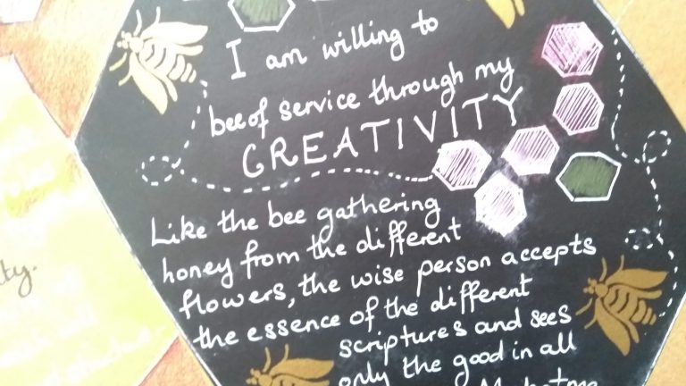 Art journal page: positive affirmations