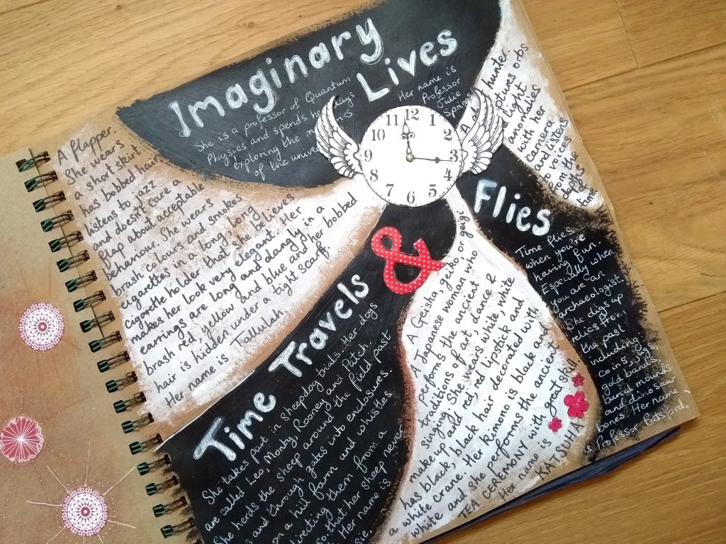 Art journal page: imaginary lives