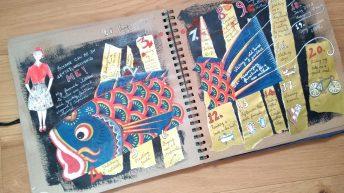 Art journal page: 20 things